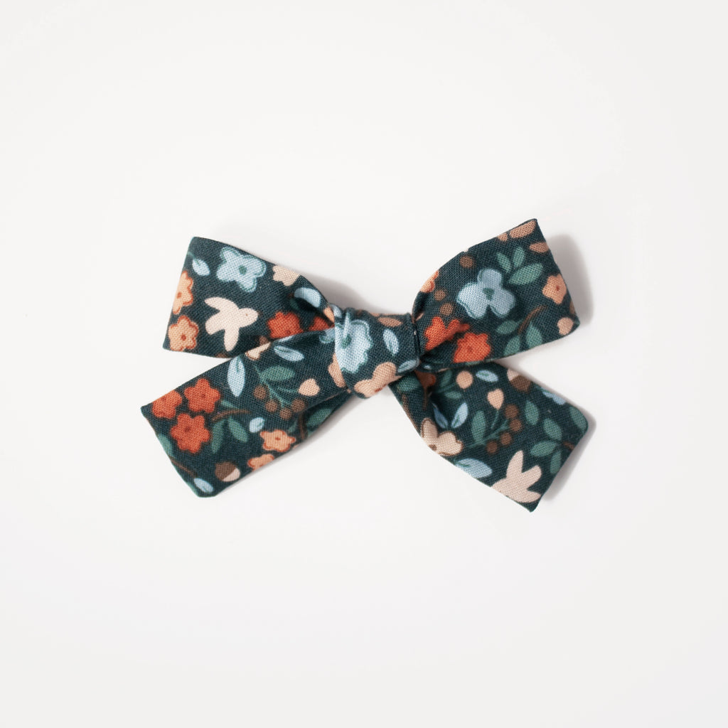 Autumn Floral (Navy) | Hand-Tied Bow
