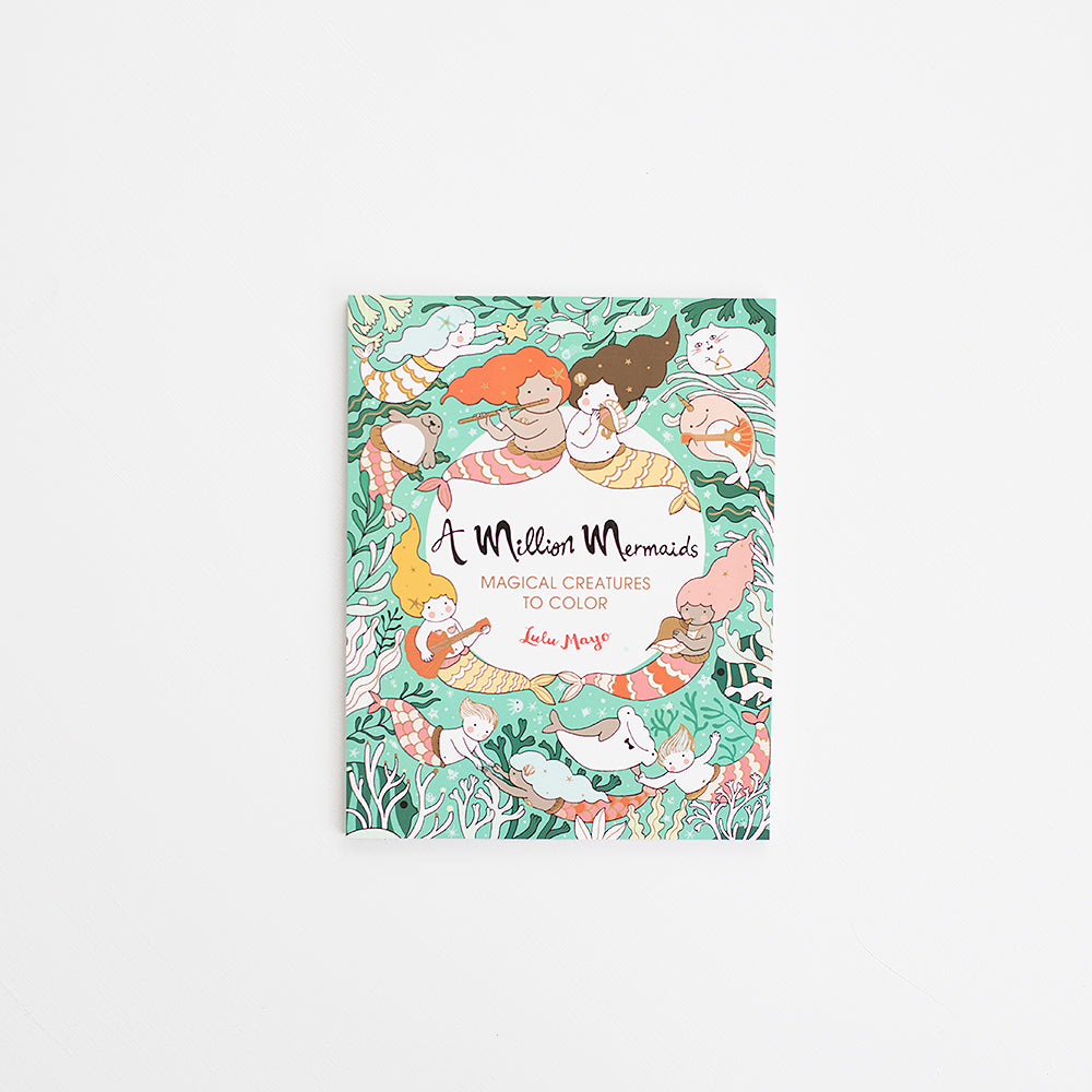 Million Mermaids Coloring Book