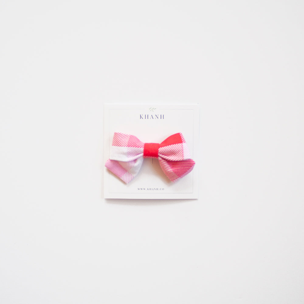 Valentine Gingham | Petite Sailor Bow