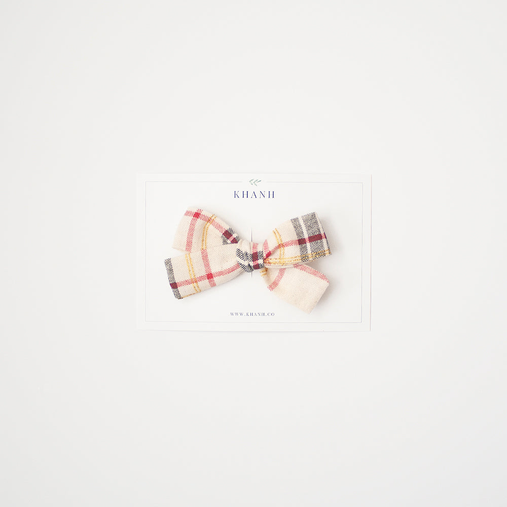 Holiday Plaid | Medium Bow