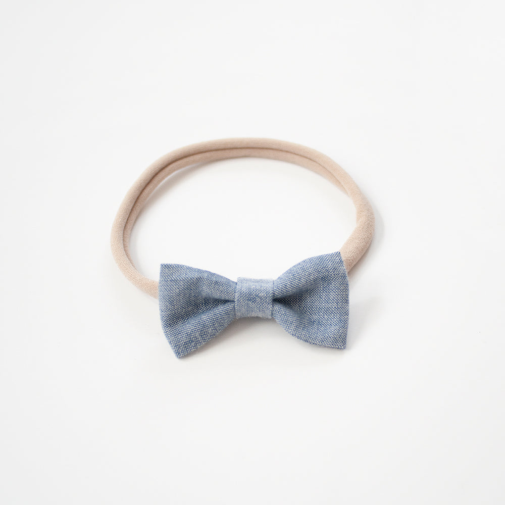 Lite Chambray | Mini Bow
