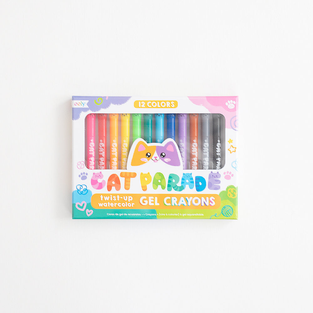 Cat Parade Watercolor Gel Crayons - Set of 12