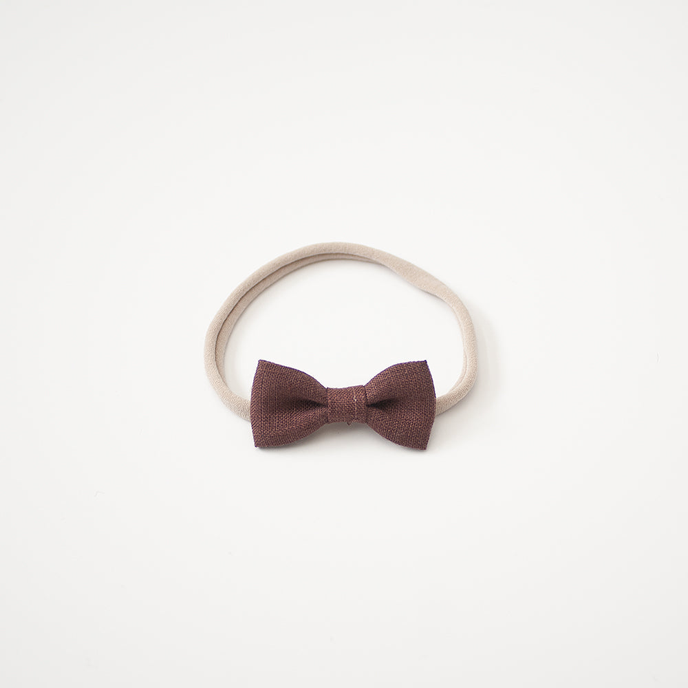 Rose Brown | Mini Bow
