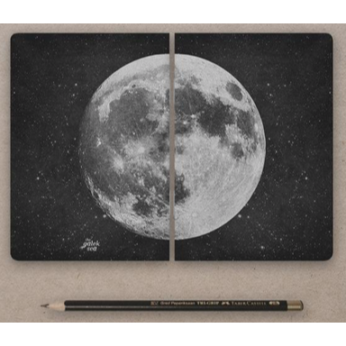 Moon Small Notebooks--Set of 2