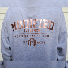 Load image into Gallery viewer, PREMIUM MODIFIED ALLIANCE HOODIE GREY FRONT/ROSE GOLD BACK DESIGN 2021