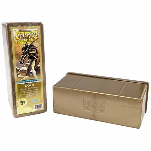Dragon Shield - Storage Box 4 Compartments Gold