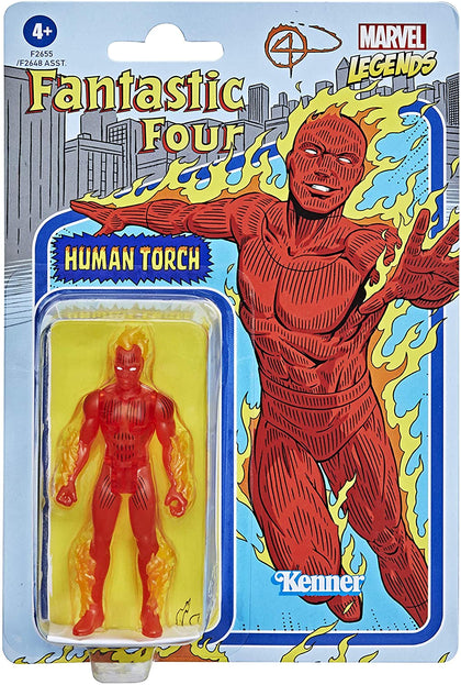 Marvel Legends Recollect Retro Action Figure Human Torch 9.5cm