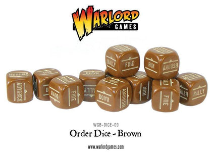 Order Dice pack - Brown (12)