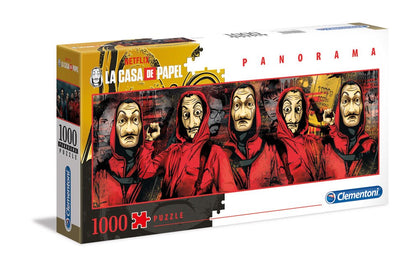 Money Heist Panorama Puzzle Characters