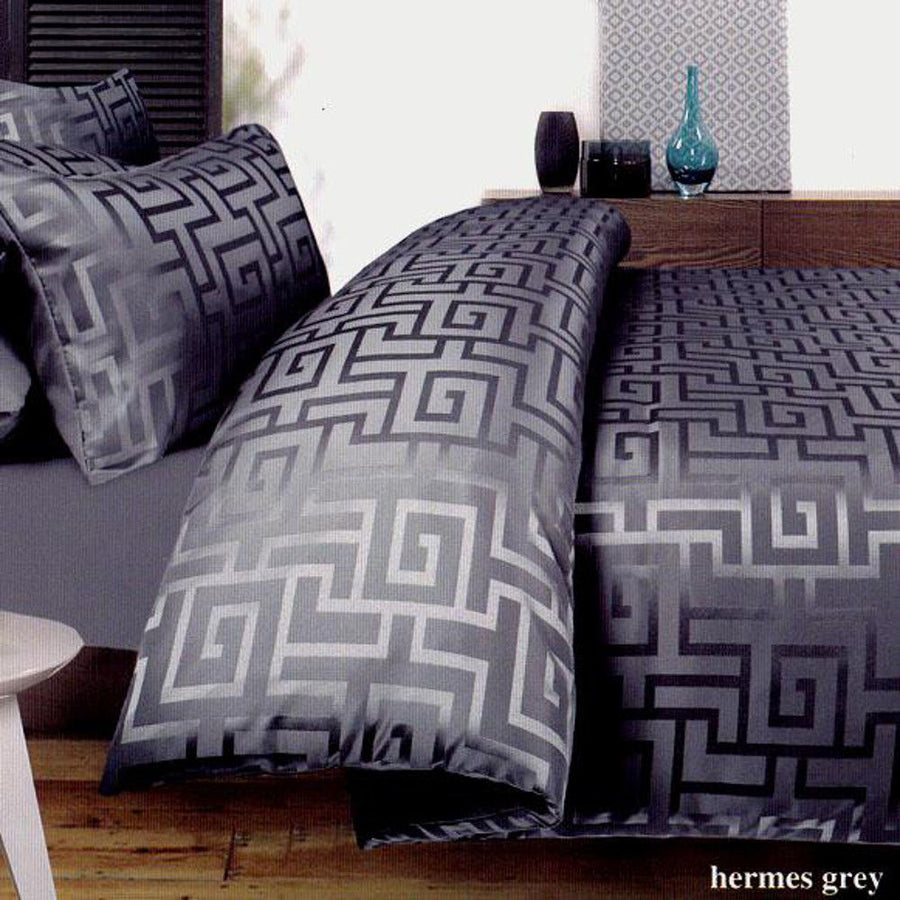 Gray Key Quilt Cover