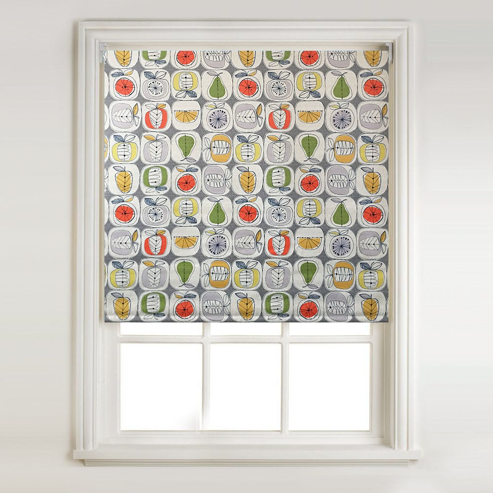 Apples & Pears - Thermal Blackout Roller Blind & Metal Bracket Fittings
