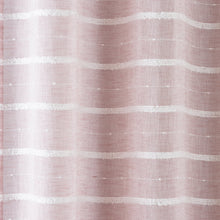 Load image into Gallery viewer, Antigua Blush Stripe Eyelet Voile Curtain Panel