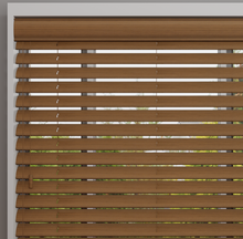 Load image into Gallery viewer, Amber Faux Wood Venetian Blind