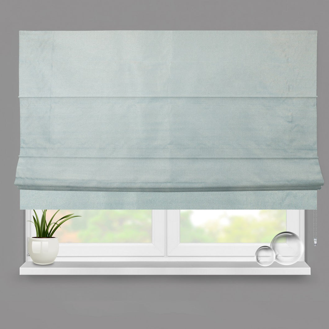 Duck Egg Weave Fully Lined Roman Blind