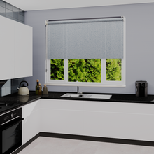 Load image into Gallery viewer, Pearl Denim Dim Out Roller Blind
