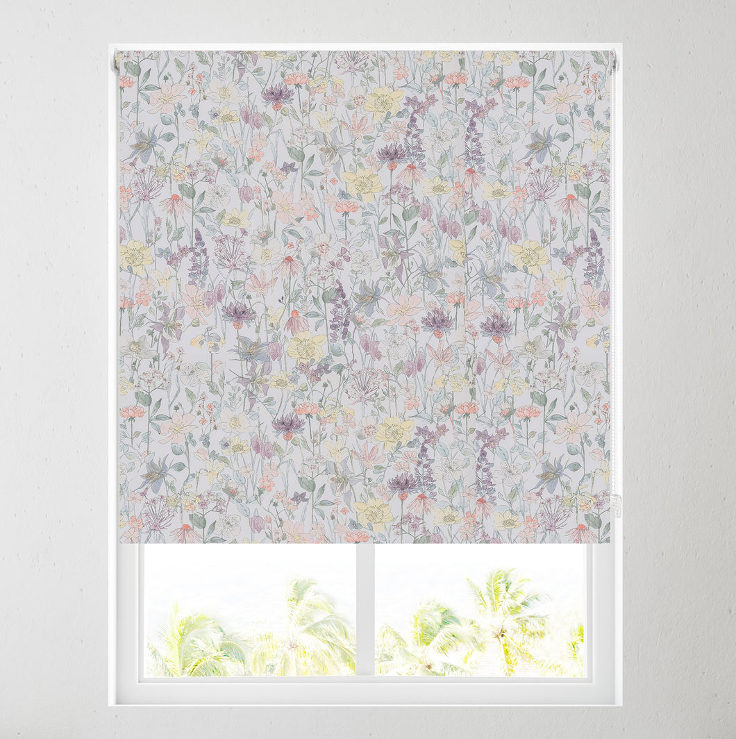 Colourful Flora Thermal Blackout Roller Blind