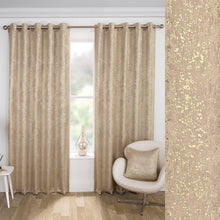 Load image into Gallery viewer, Halo Shimmer Natural Self Lined Curtains