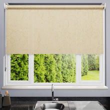 Load image into Gallery viewer, Panama Ivory Dim Out Roller Blind