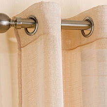 Load image into Gallery viewer, Marrakesh Cream Sparkle Eyelet Voile Curtain Panel