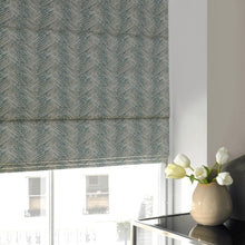 Load image into Gallery viewer, Lily Teal Blackout Roman Blind