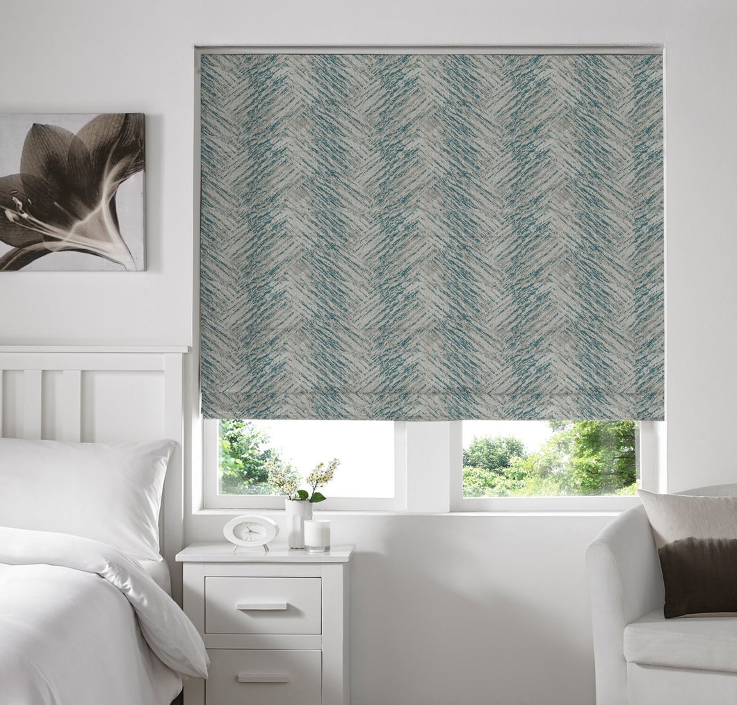 Lily Teal Blackout Roman Blind