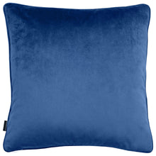 Load image into Gallery viewer, Riviera Metallic Leaf Velvet Cushion Navy