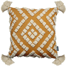 Load image into Gallery viewer, Belize Tassel Cushion Ochre