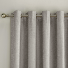 Load image into Gallery viewer, Savoy Grey Chenille Blackout Curtains