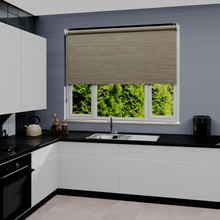 Load image into Gallery viewer, Riga Sandstone Dim Out Roller Blind