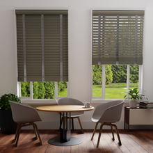 Load image into Gallery viewer, Stratus Natural Faux-Wood Venetian Blind with Tapes