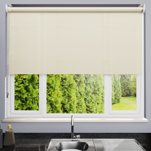 Load image into Gallery viewer, Delia Vanilla Dim Out Roller Blind