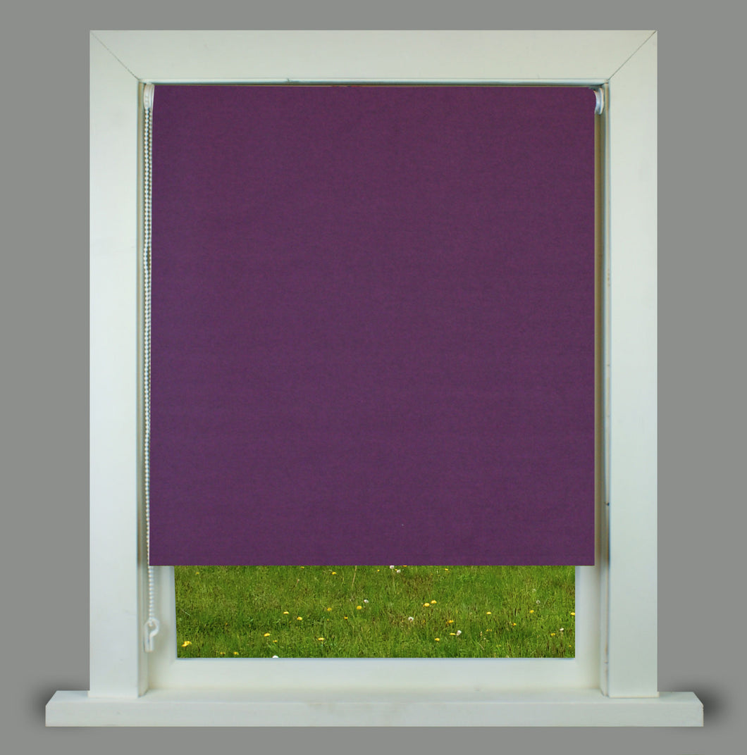 Ara Plum Textured Thermal Blackout Roller Blind