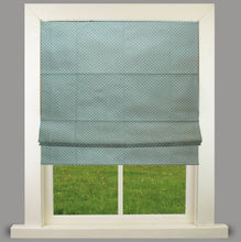 Load image into Gallery viewer, Maria polka Blue Lined Roman Blind