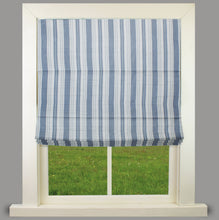 Load image into Gallery viewer, Orkney Blue Fully Lined Roman Blind