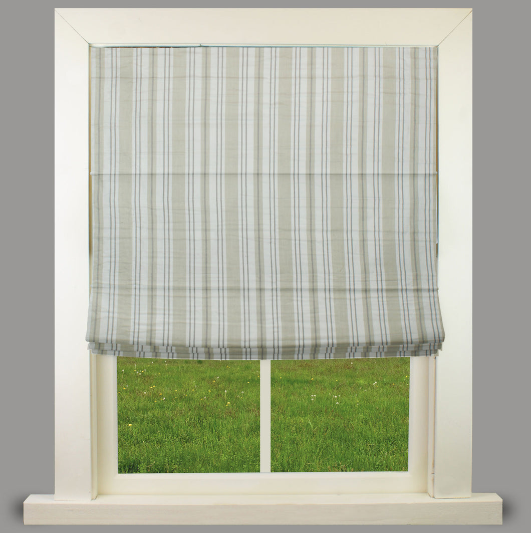 Orkney Natural Fully Lined Roman Blind