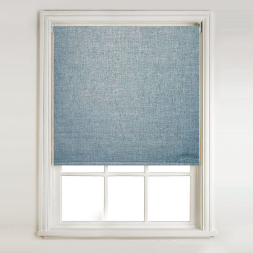 Venice Teal Textured Thermal Blackout Roller Blind