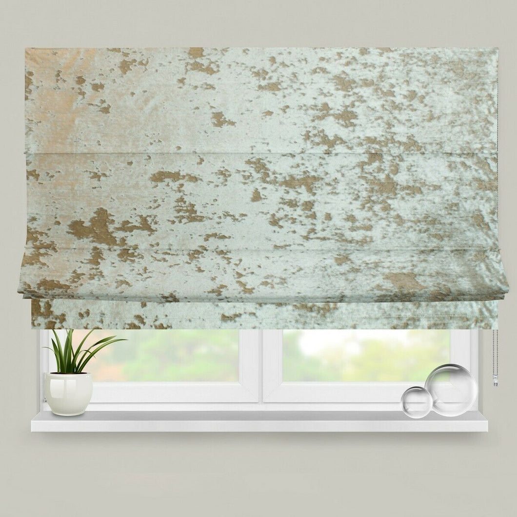 Velour Champagne Fully Lined Roman Blind