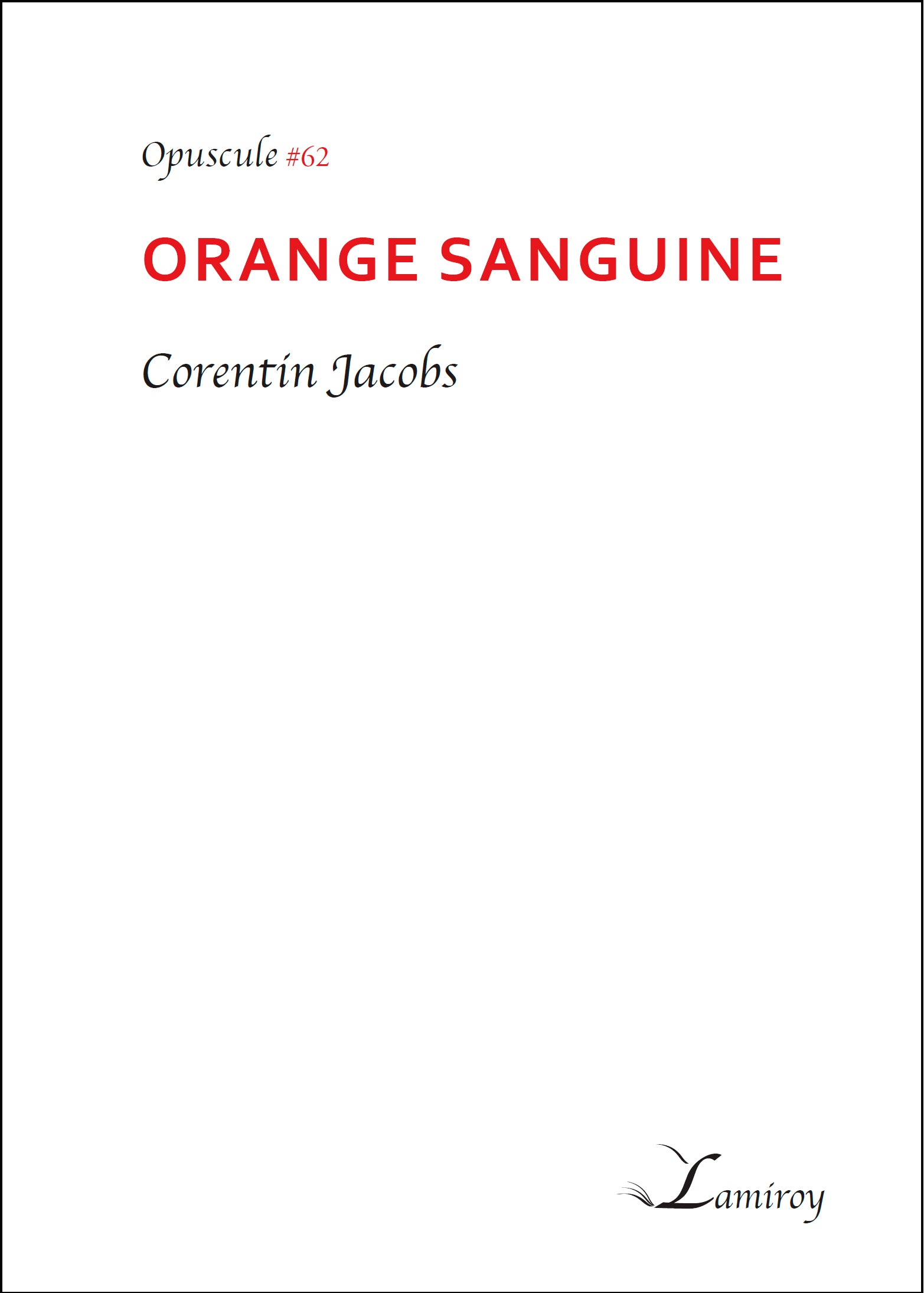 Orange Sanguine #62