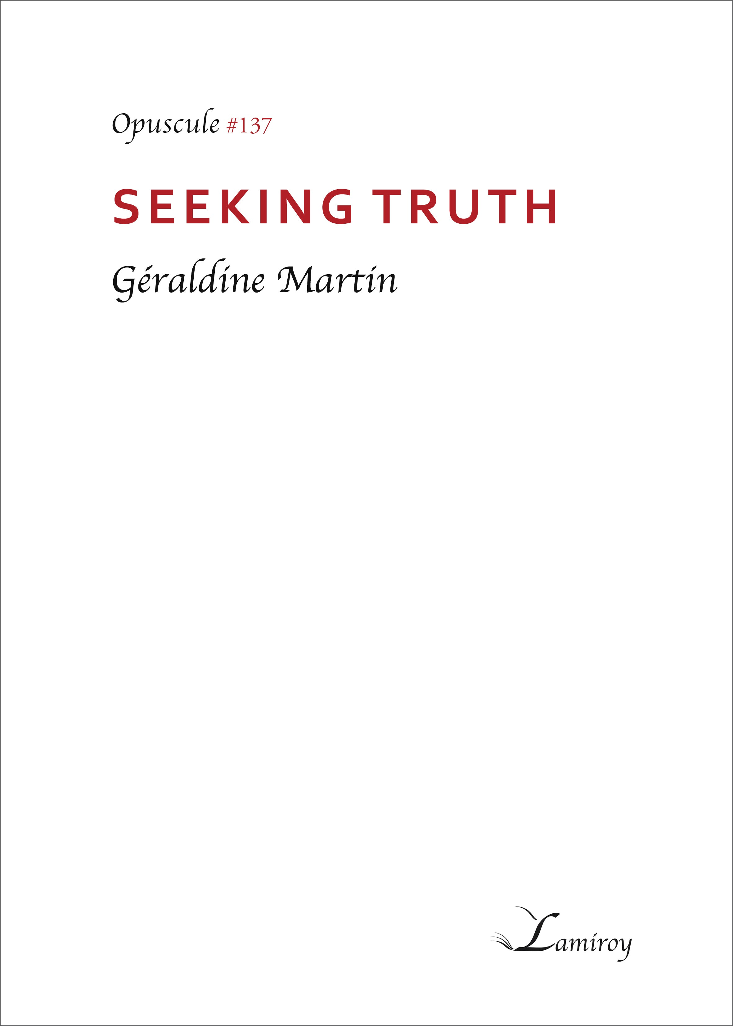 Seeking truth #137