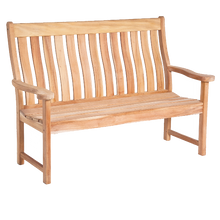 Load image into Gallery viewer, Mahogany High Back Bench