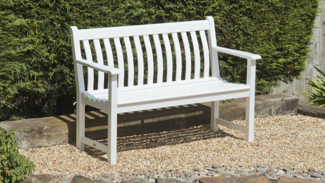 New England White Painted Broadfield Bench