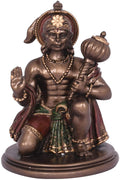 Resin Lord Hanuman In Sitting Posture Statue Figurine KC259