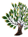 Metal Green Tree Of Wisdom and Life Mounted Wall Hanging Showpiece