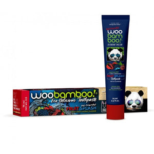 Woobamboo Toothpaste - Fruit Splash with Fluoride bottle and packaging