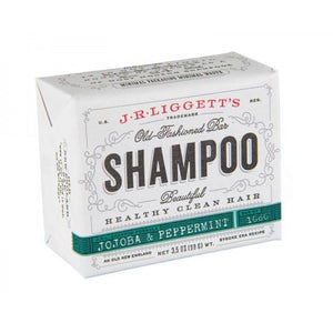J.R Liggetts Old Fashioned Shampoo Bar with Jojoba and Peppermint label
