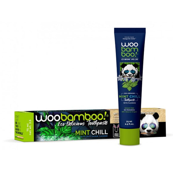 Woobamboo Toothpaste - Mint Chill with Fluoridebottle and packaging