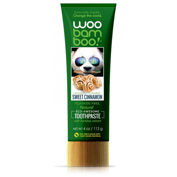 Woobamboo Toothpaste - Sweet Cinnamon green bottle
