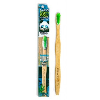 Woobamboo Adult standard handle toothbrush –Medium