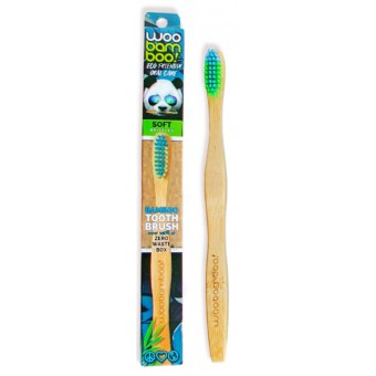 Woobamboo Adult standard handle toothbrush – Soft
