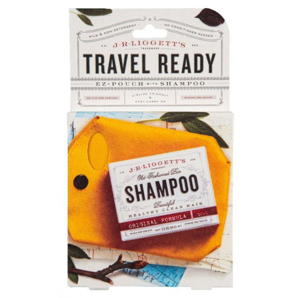 J.R Liggetts Travel Ready EZ Pouch with Shampoo